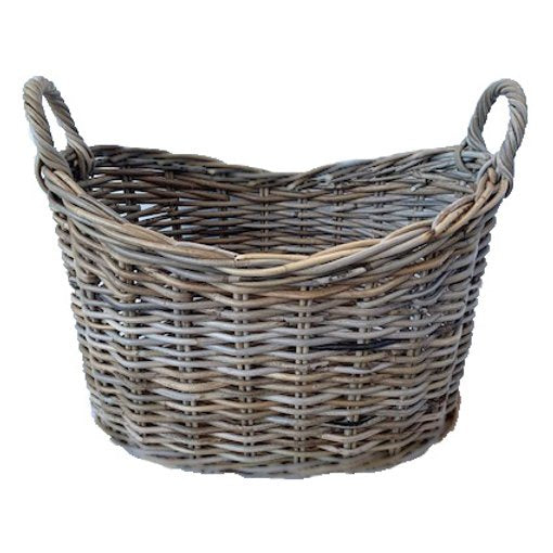 Shop Rattan Oval Shaped Basket at Rose St Trading Co