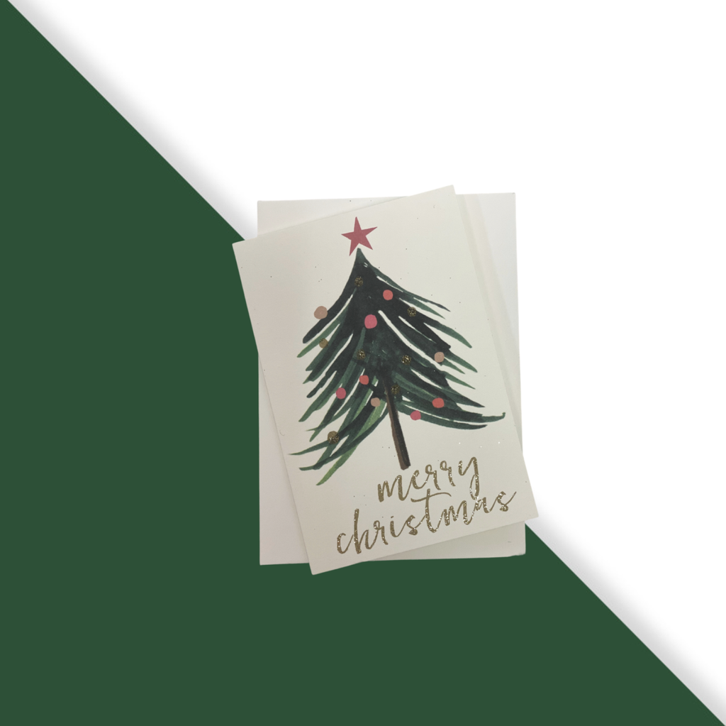 Shop Set of 5 Cards | Merry Christmas Tree Small at Rose St Trading Co