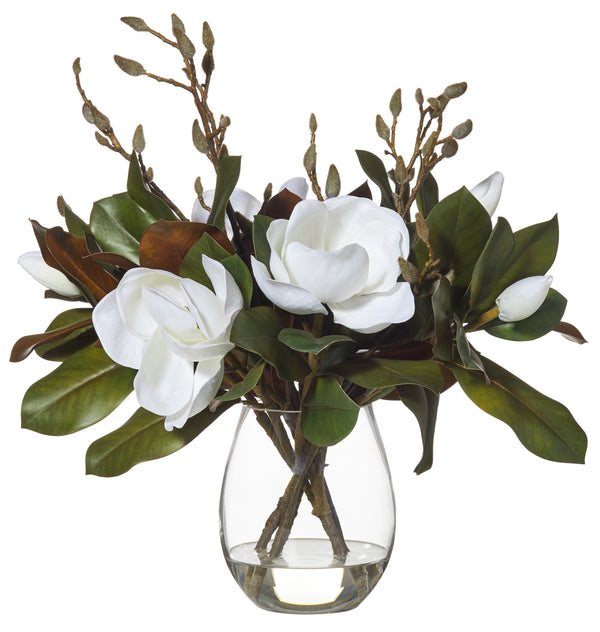 Shop Magnolia in Claire Vase- White at Rose St Trading Co