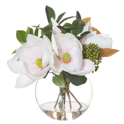 Shop Magnolia Mix in Sphere Vase- Pink at Rose St Trading Co