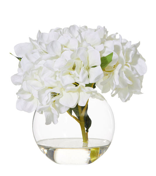 Shop Hydrangea Glass Vase- White at Rose St Trading Co