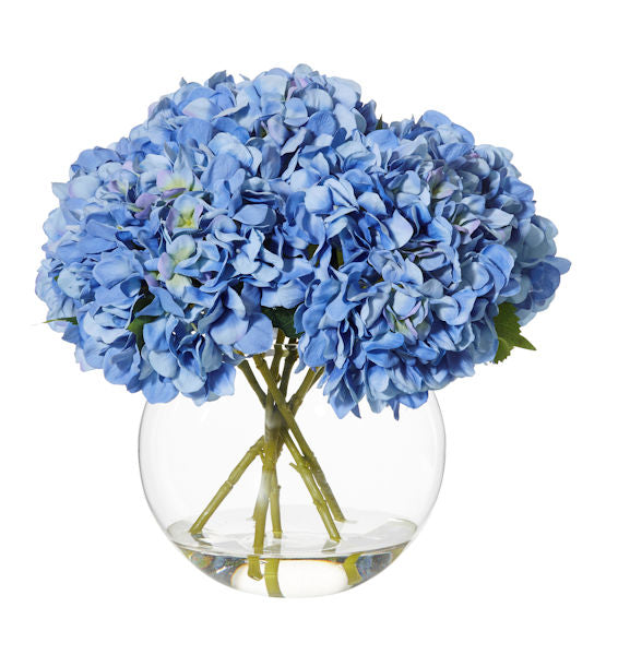 Shop Hydrangea Glass Vase- Blue 40cm at Rose St Trading Co