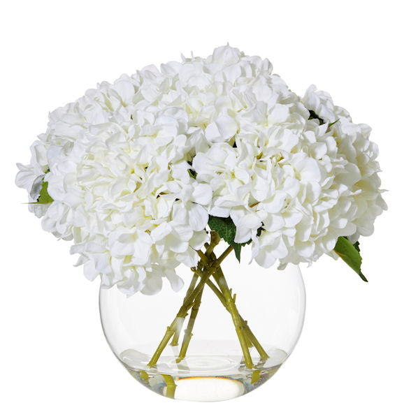 Shop Hydrangea Glass Vase- White 40cm at Rose St Trading Co