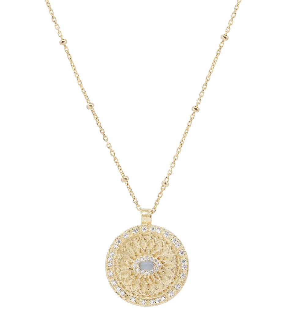 Shop Gold Blessed Eye Necklace at Rose St Trading Co