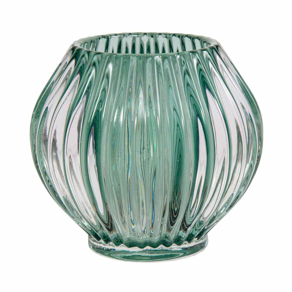 Shop Tea Light Candle Holder | Green at Rose St Trading Co