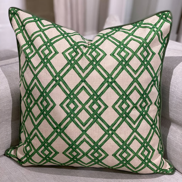 Shop Bamboo Trellis Cushion at Rose St Trading Co