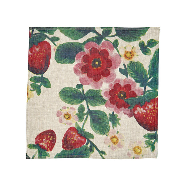 Shop Strawberries Multicolour Napkins - Set 6 at Rose St Trading Co