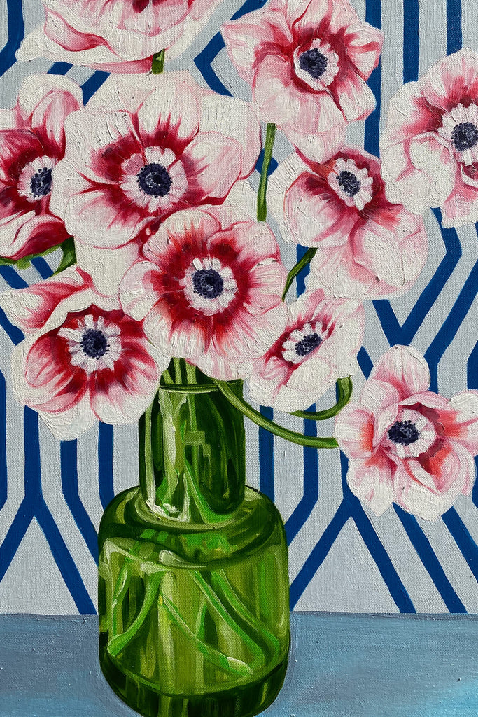 Shop Pink Anenome and the Green Vase at Rose St Trading Co