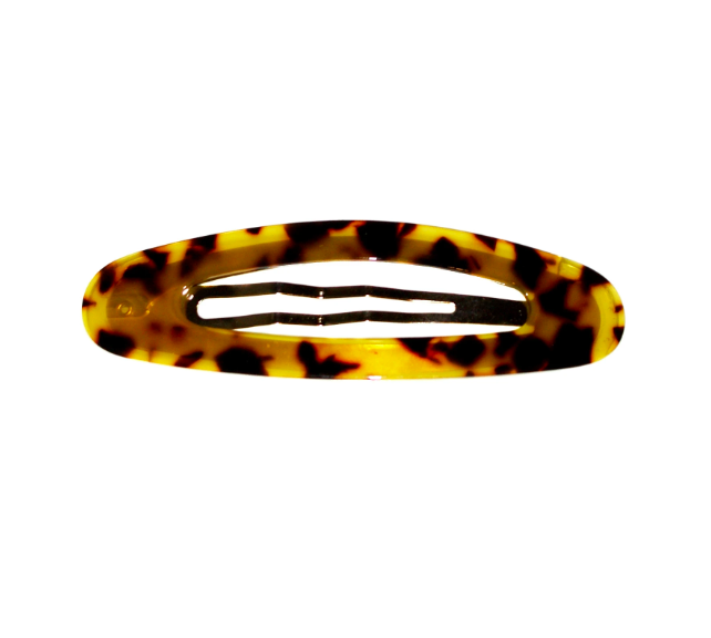 Shop Hair Clip | Large Oval Dark Tortoise at Rose St Trading Co