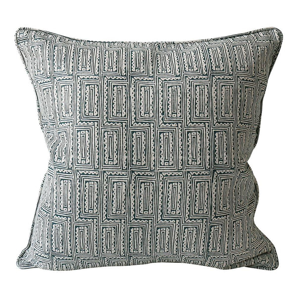 Shop Hanoi Pacific Blue Linen Cushion | 50x50cm at Rose St Trading Co