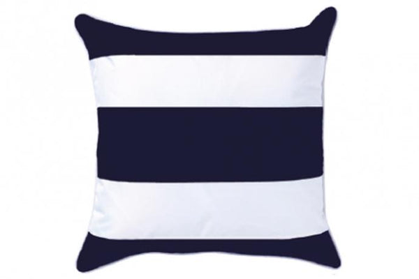 Shop Outdoor Stripe Cushion | Navy at Rose St Trading Co