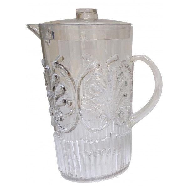 Shop Acrylic Scollop Des Pitcher | Clear at Rose St Trading Co