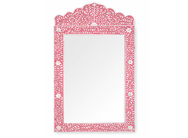 Shop Mother of Pearl Inlay Mirror - PRE ORDER STOCK DUE MID JUNE at Rose St Trading Co