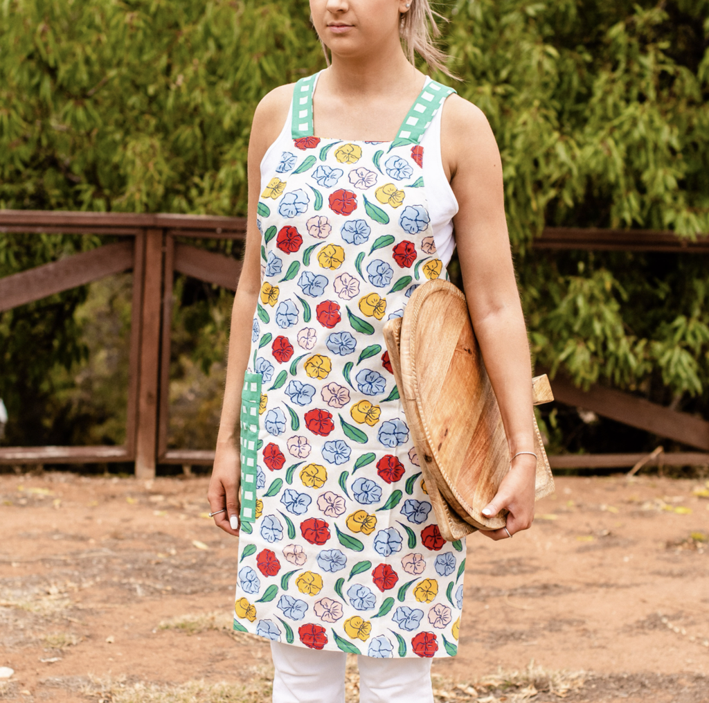 Shop Apron | Pansy at Rose St Trading Co