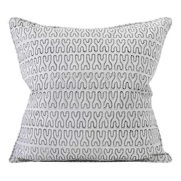 Shop Nagari Chalk Linen Cushion |50x50cm at Rose St Trading Co