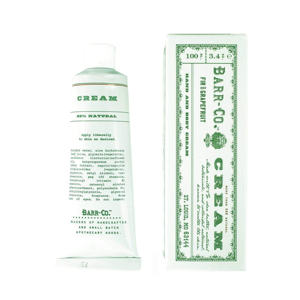Shop Barr-Co Fir & Grapefruit Hand Cream - Tube at Rose St Trading Co