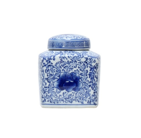 Shop Double Happiness Blue + White Jar | 13cm at Rose St Trading Co