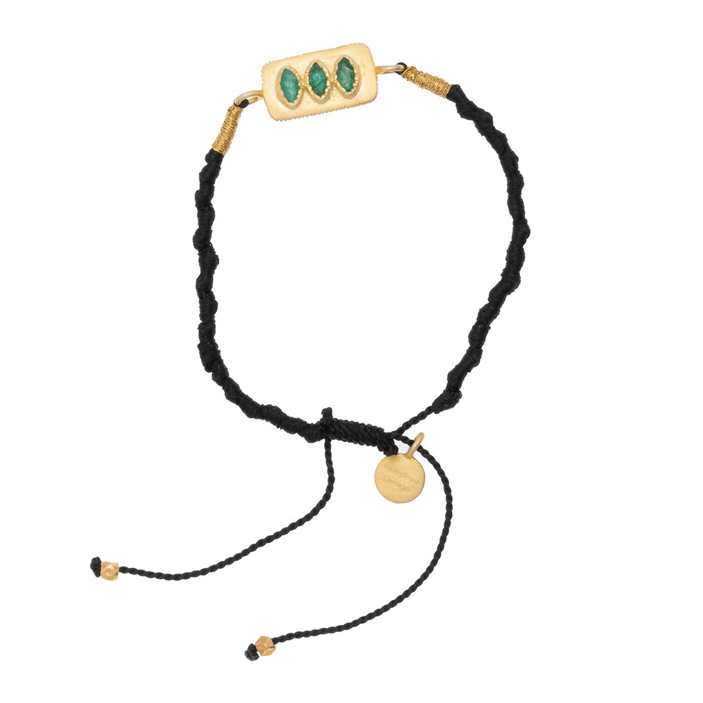 Shop Green Aventurine Adjustable Silk Bracelet at Rose St Trading Co
