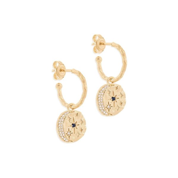 Shop Gold Heavenly Moonlight Hoops at Rose St Trading Co