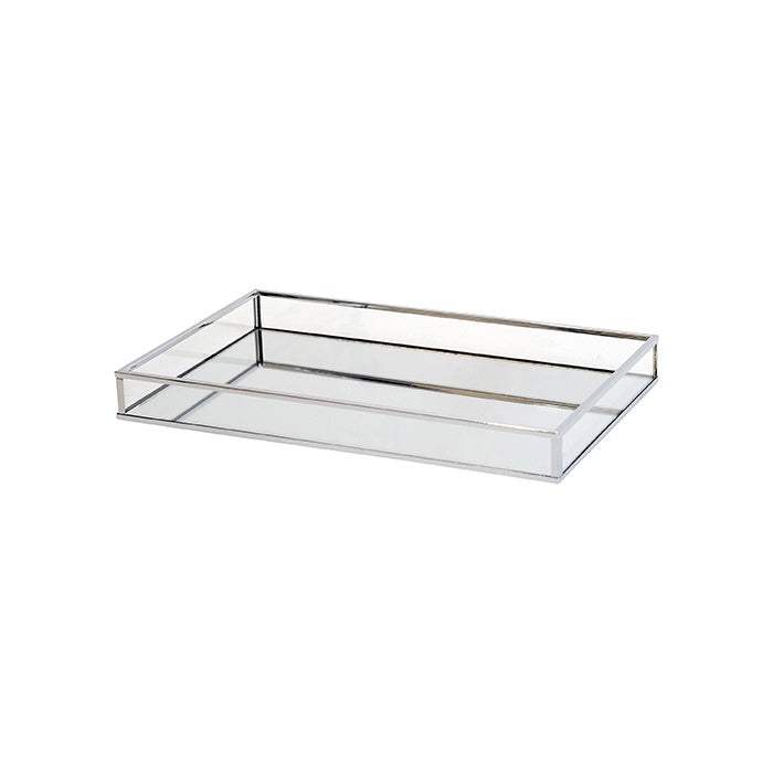 Shop Silver /Clear Rect Mirror Tray | Small at Rose St Trading Co