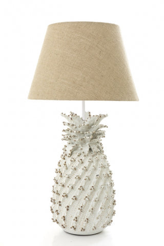 Shop Pineapple Table Lamp Base - White at Rose St Trading Co