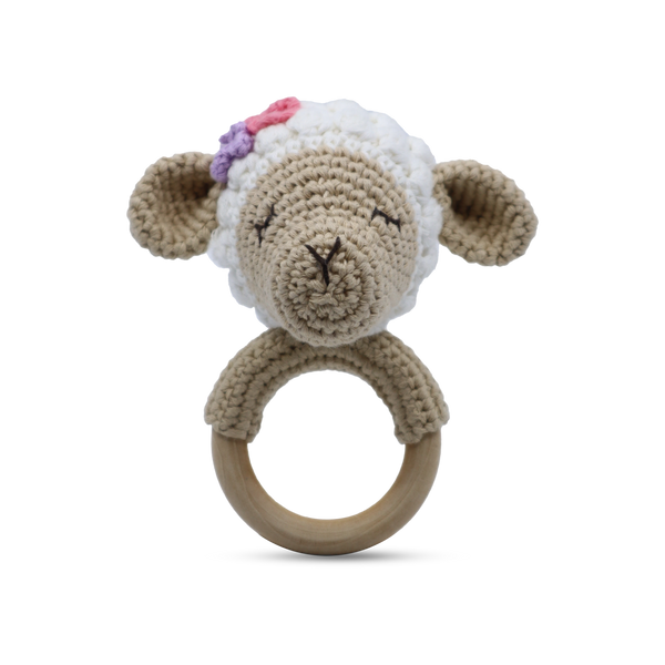 Shop Shaker Ring Toy | Lamb at Rose St Trading Co