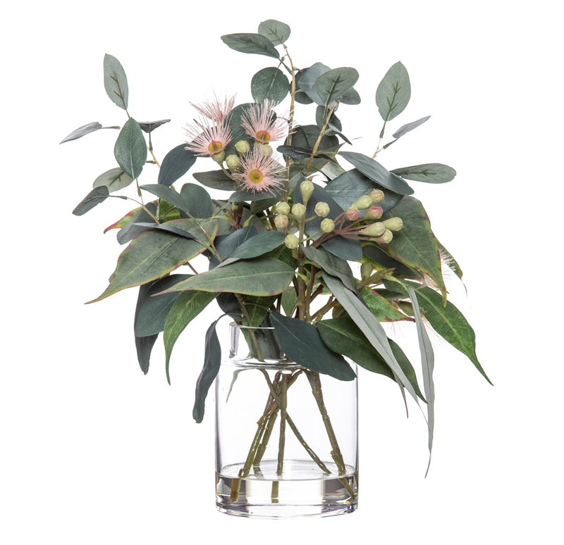 Shop Flowering Eucy Mix - Pail Vase 43cm at Rose St Trading Co