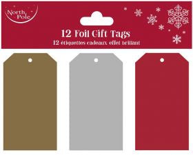 Shop Christmas Tag Pack 12 | Metallic Tags at Rose St Trading Co