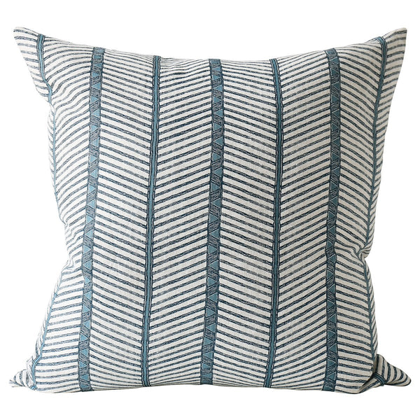 Shop Zanzibar Azure Linen Cushion at Rose St Trading Co