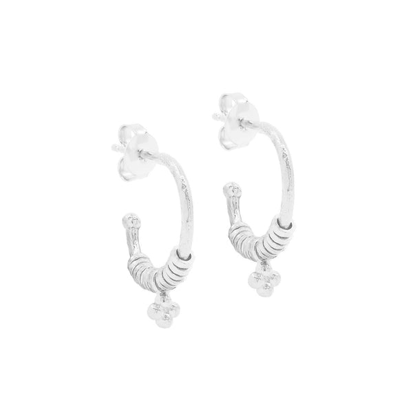 Shop Silver Charmed Hoops at Rose St Trading Co