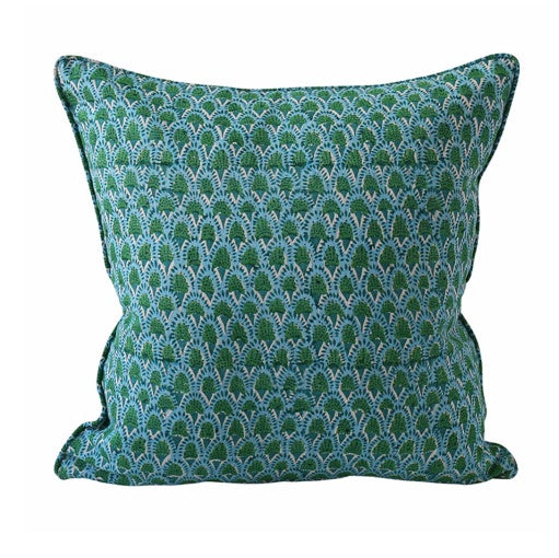 Shop Scopello Emerald Linen Cushion 50x50cm at Rose St Trading Co