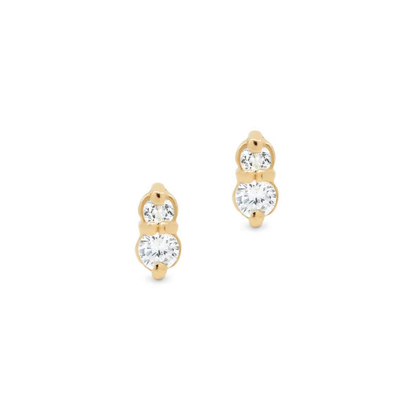 Shop Gold Air Stud Earrings at Rose St Trading Co