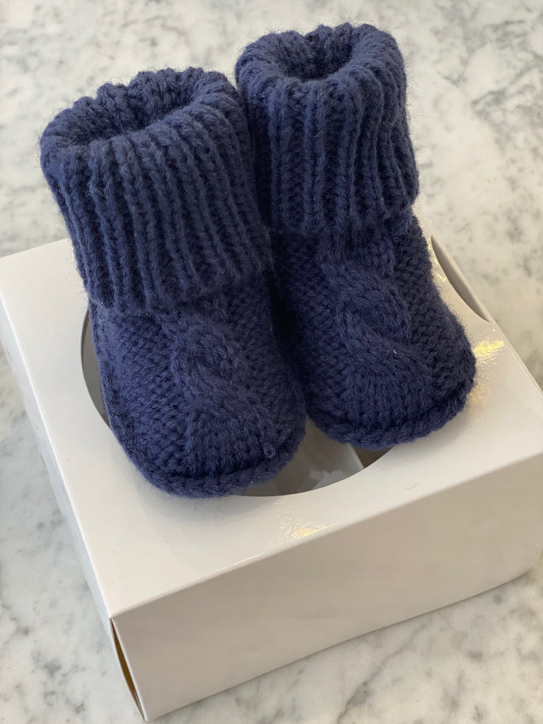 Shop Booties - Navy 0-3mth at Rose St Trading Co