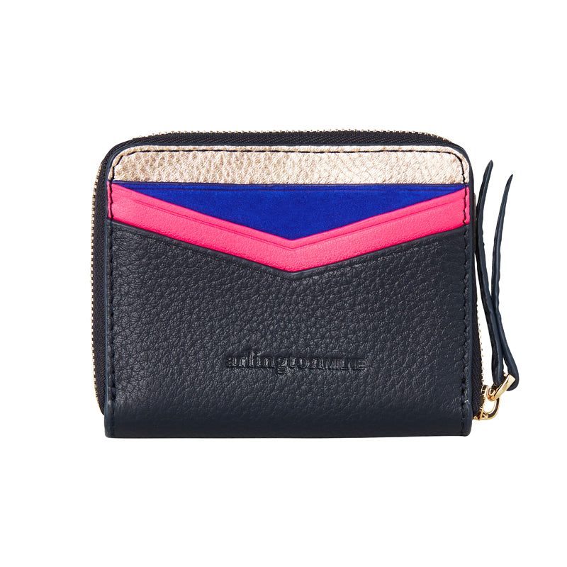 Shop Alexis Zip Purse - Rose Gold/Navy at Rose St Trading Co