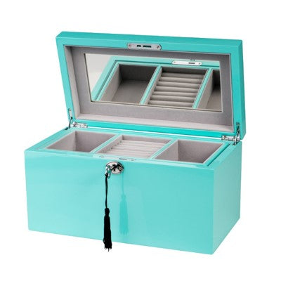 Shop Jewellery Box - Aqua Rectangle at Rose St Trading Co