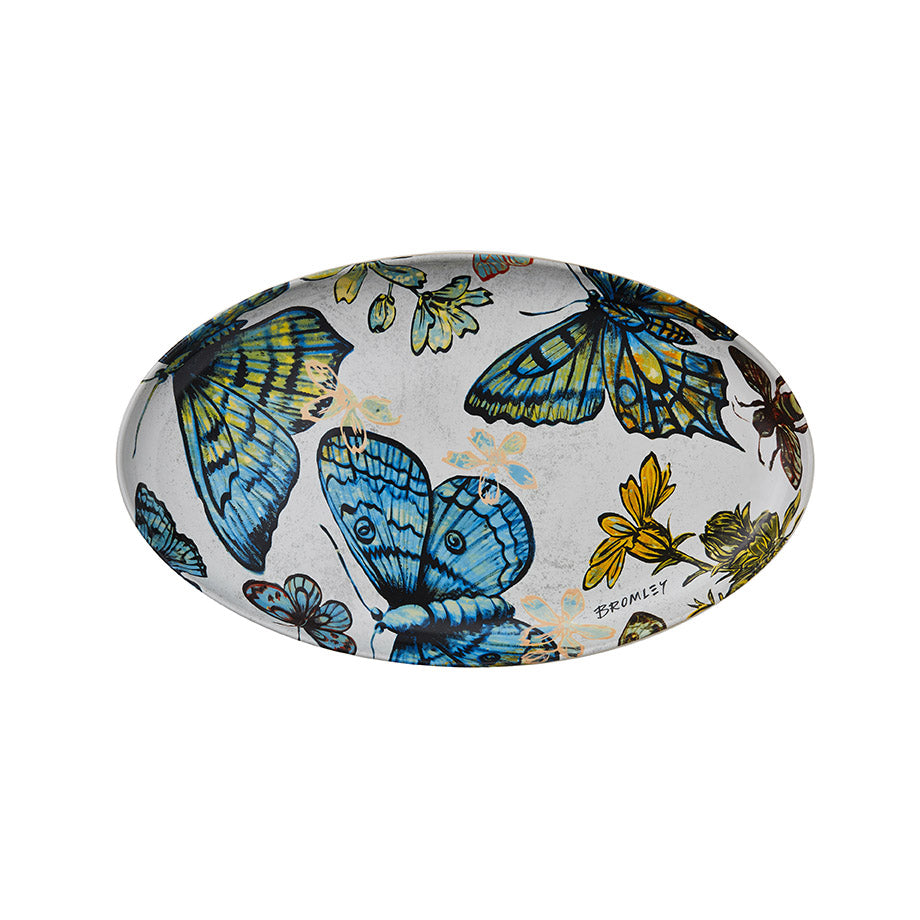 Shop Platter Oval Butterflies at Rose St Trading Co