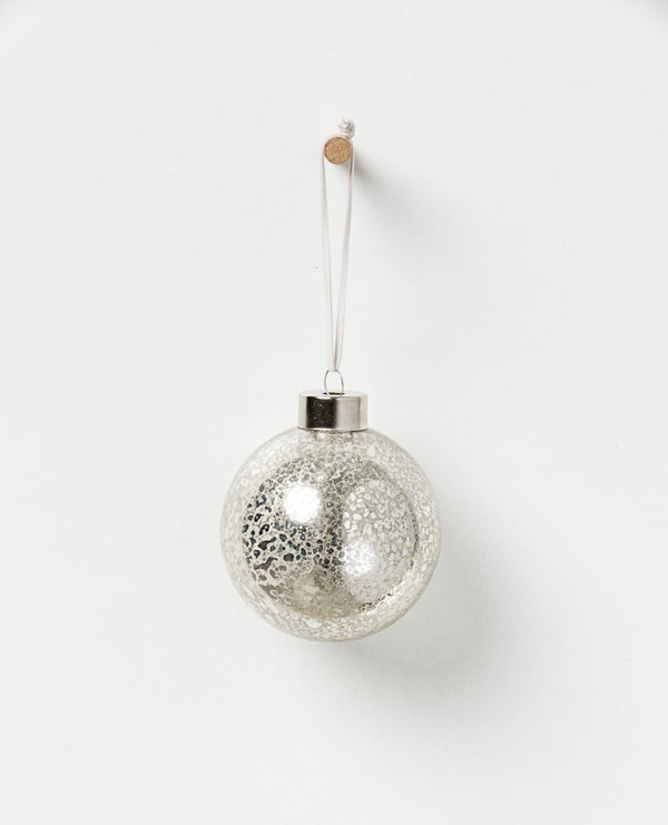 Shop Holiday Hanging Glass Bauble - Champagne Set 4 at Rose St Trading Co