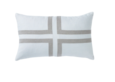 Shop Sand Linen Cross Cushion - 30x50cm at Rose St Trading Co