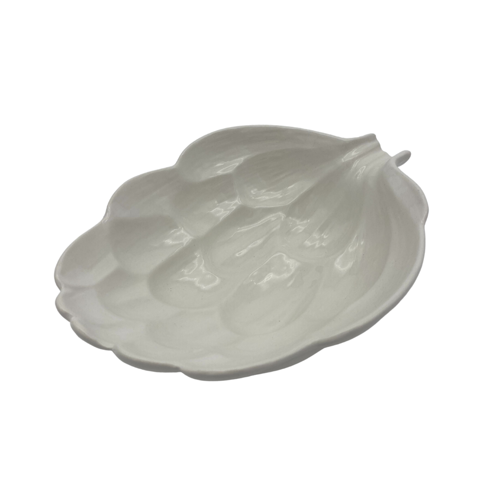 Shop Ceramic Leaf Bowl | White Large at Rose St Trading Co