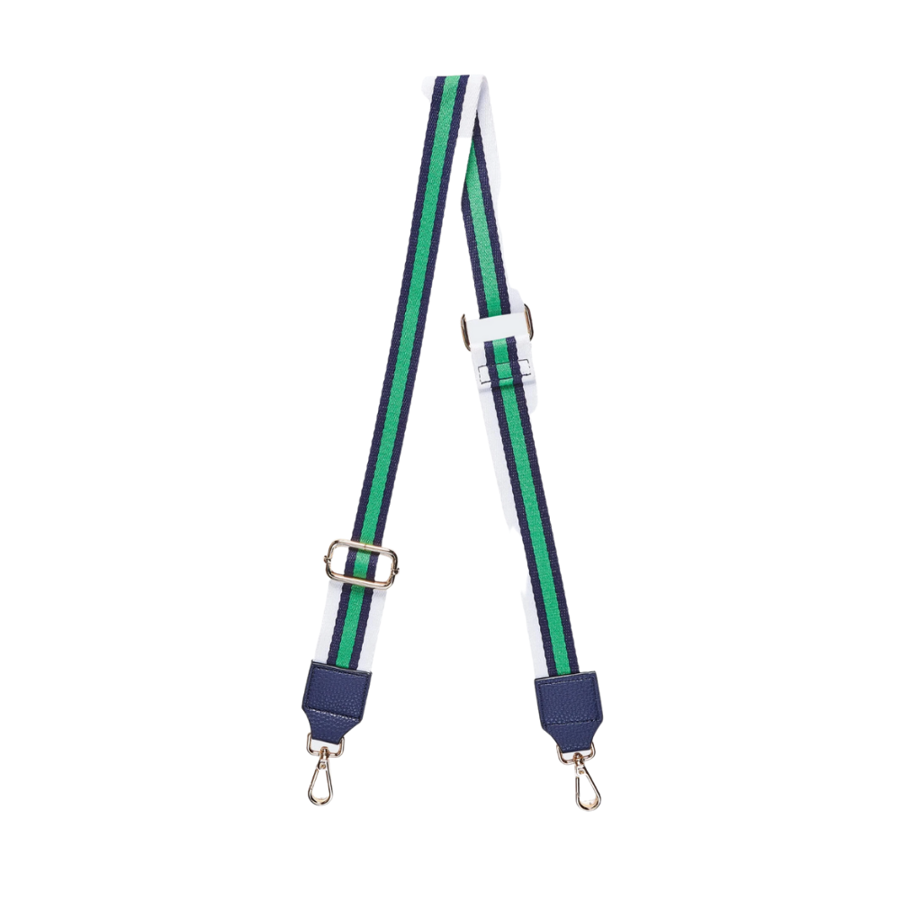 Shop Bag Strap | Navy/Green at Rose St Trading Co