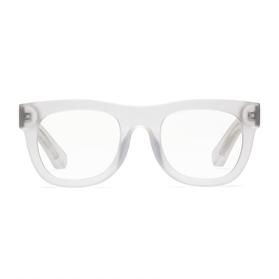 Shop D28 Karl the Fog Matte Trans Clear Glasses at Rose St Trading Co