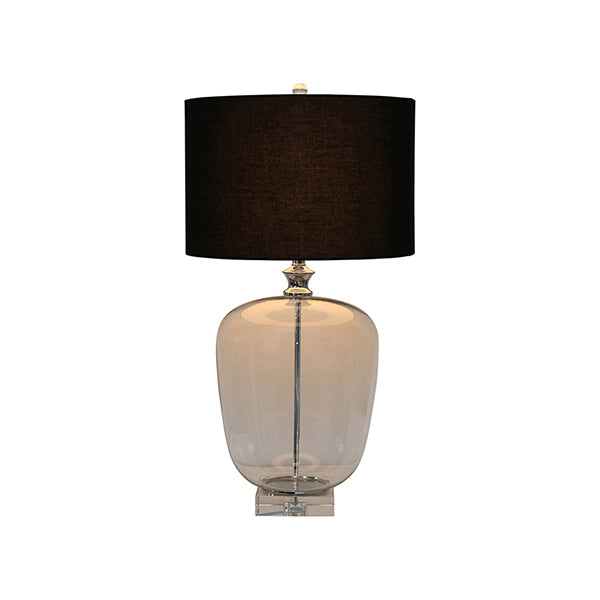 Shop Crystal Base Lamp with Black Linen Shade at Rose St Trading Co