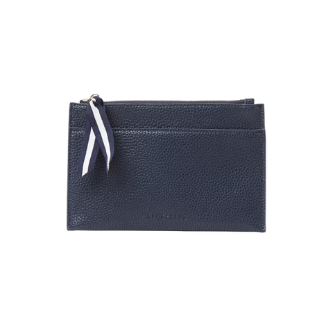 Shop New York Coin Purse - Navy Saffiano at Rose St Trading Co
