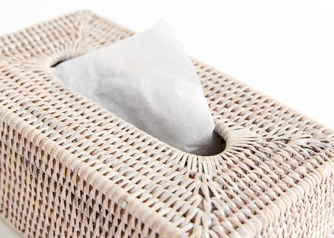 Shop Rectangle Tissue Box Holder | White Wash at Rose St Trading Co