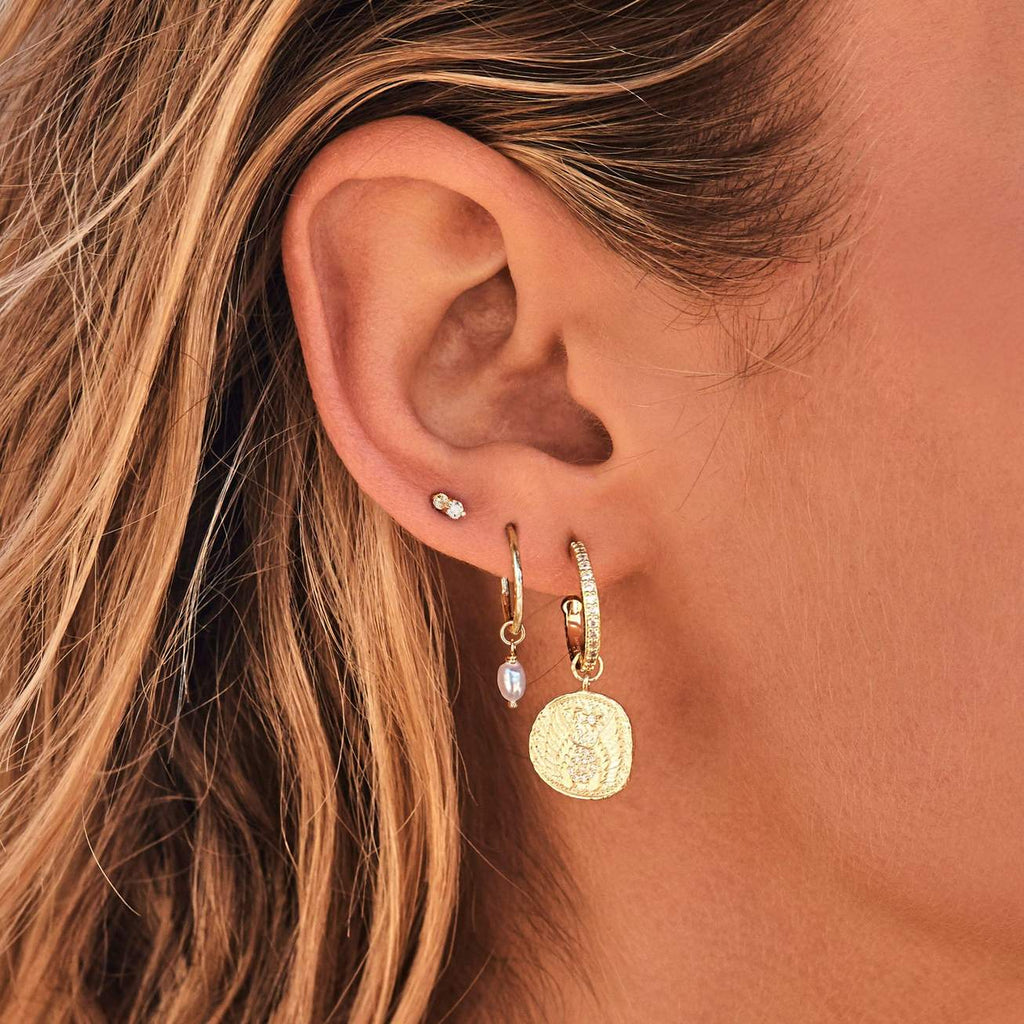 Shop Gold Goddess of Air Hoops at Rose St Trading Co