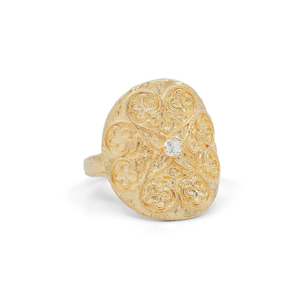 Gold Believe in Luck Ring