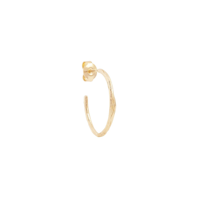 Shop Gold Devotion Hoop Earrings at Rose St Trading Co