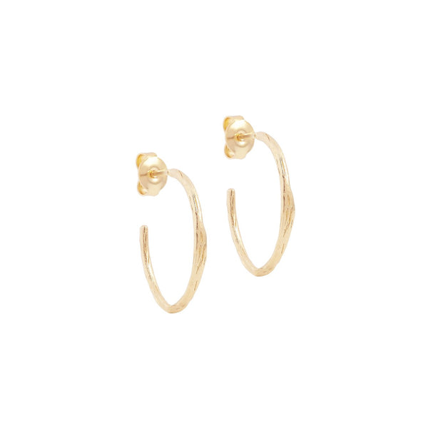 Gold Devotion Hoop Earrings