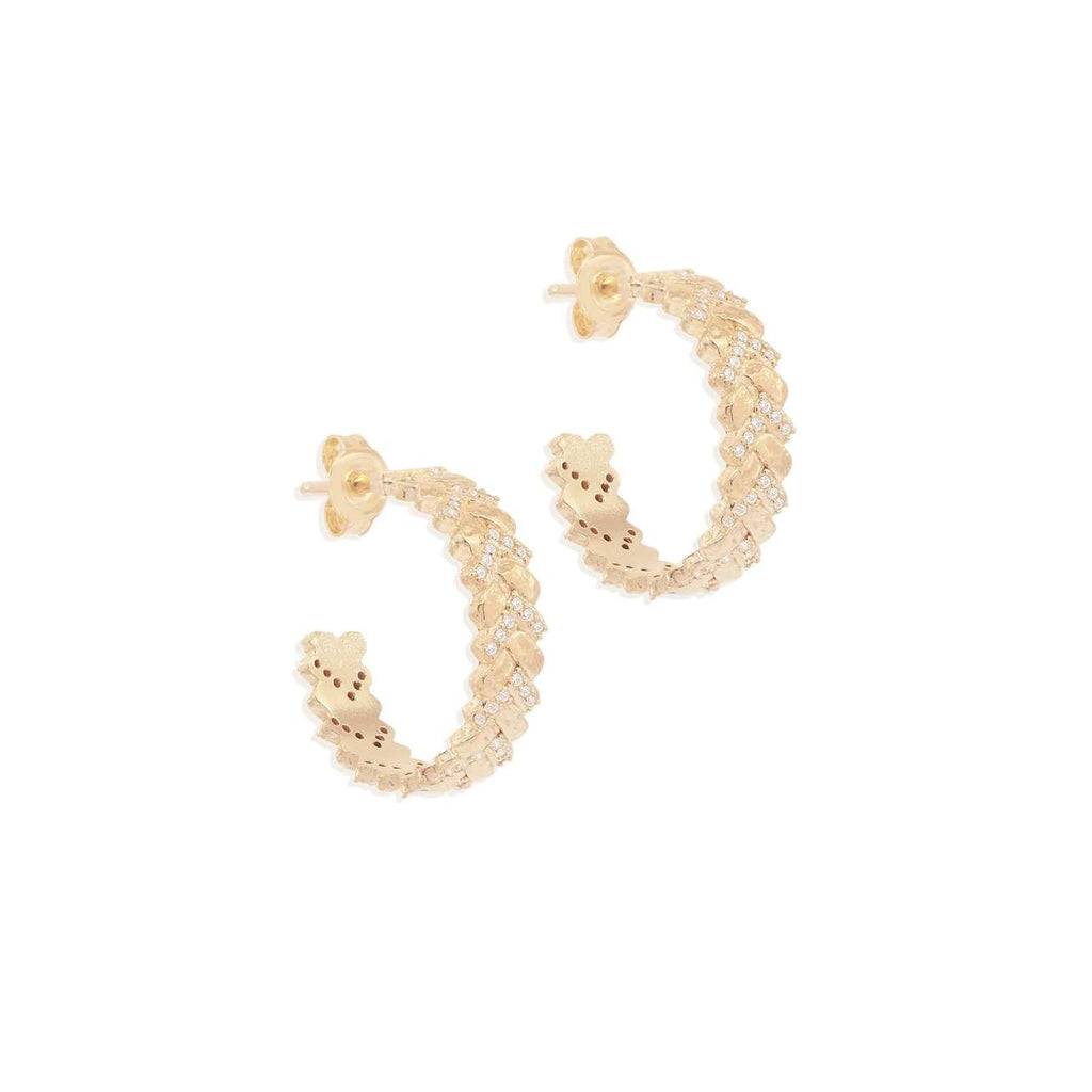 Shop Gold Dream Weaver Hoops at Rose St Trading Co