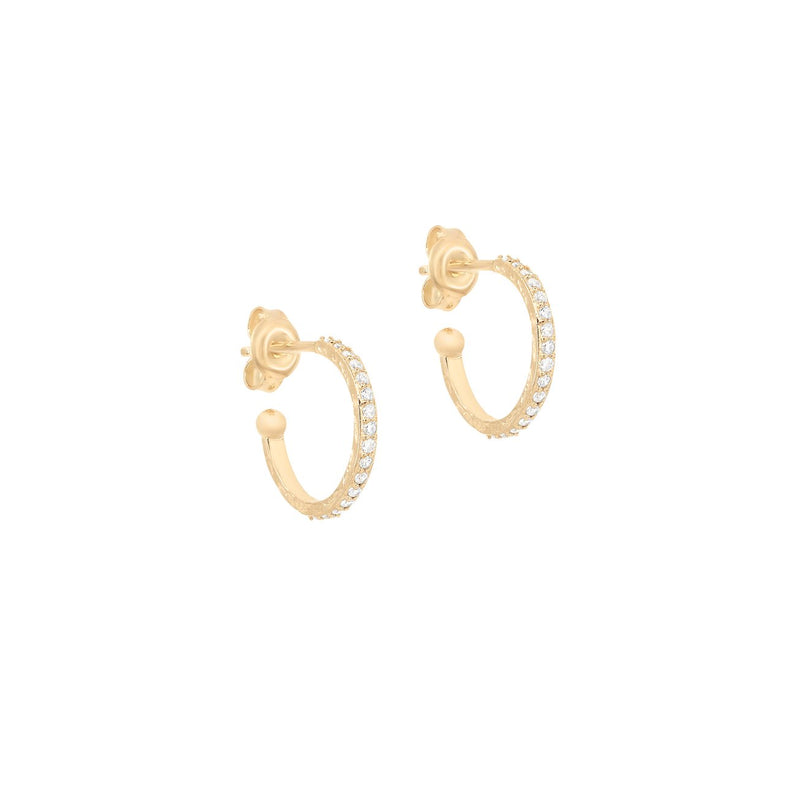 Shop Gold Goddess of Earth Hoops at Rose St Trading Co